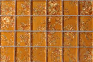 Мозаика стеклянная фольгированная  (на сетке) 48*48 (300*300*4) ST065