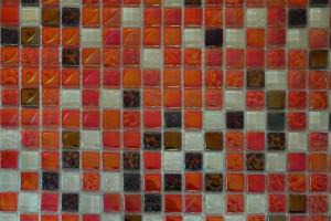 Мозаика стекло с камнем (на сетке) 15*15  (300х300х6) DGS016
