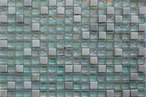 Мозаика стекло с камнем (на сетке) 15*15  (300х300х6) DGS018