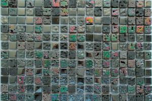 Мозаика стекло с камнем (на сетке) 15*15  (300х300х6) DGS030
