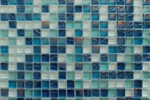 Мозаика стекло с камнем (на сетке) 15*15  (300х300х6) DGS037