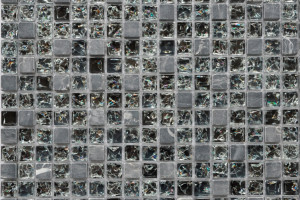 Мозаика стекло с камнем (на сетке) 15*15  (300х300х6) GS089B