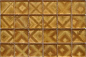 Мозаика стеклянная фольгированная  (на сетке) 48*48 (300*300*4) ST062