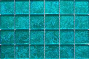 Мозаика стеклянная фольгированная  (на сетке) 48*48 (300*300*4) ST046