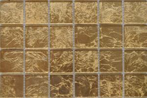 Мозаика стеклянная фольгированная  (на сетке) 48*48 (300*300*4) ST031