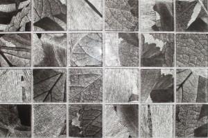 Мозаика стеклянная фольгированная  (на сетке) 48*48 (300*300*4) PM4002