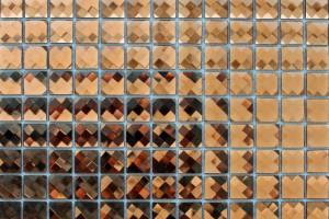 Мозаика стеклянная из страз (на сетке) 15*15 (300*300*4)  F15X3