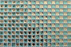 Мозаика стеклянная из страз (на сетке) 15*15 (300*300*4) F15X7