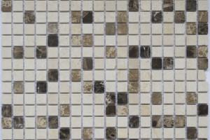 Мозайка из камня (на сетке) 15x15  (305х305х4) KG-15.33P