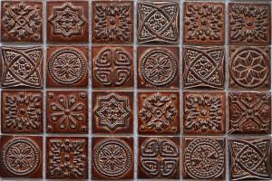 Мозаика керамическая (на сетке) 48*48 (300*300*6) KG4801