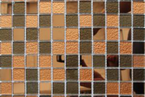 Мозаика стеклянная зеркальная (на сетке) 25x25 (300х300х4) А28
