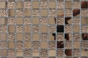 Мозаика стеклянная зеркальная  (на сетке) 23x23, 25x25 (300х300х4) A46