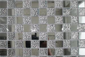 Мозаика стеклянная зеркальная (на сетке) 23x23 (300х300х4) CY817