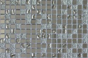 Мозаика стеклянная зеркальная (на сетке)  15x15 (300х300х4) А1505
