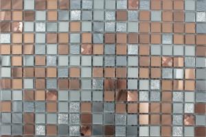 Мозаика стеклянная зеркальная (на сетке) 15x15 (300х300х4) А1504