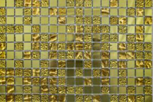 Мозаика стеклянная зеркальная (на сетке) 15x15 (300х300х4) А1506