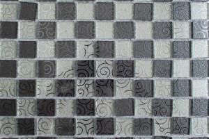 Мозаика стеклянная зеркальная (на сетке)  25x25 (300х300х4) 515