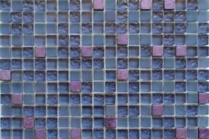 Мозаика стекло с камнем (на сетке) 15*15  (300х300х8/6) SSZGS103