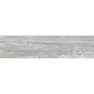 Травертин ступень серебро полированный 1200х300 PGR379