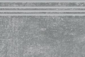 Цемент ступень темно-серый структурный 1200х300 SR