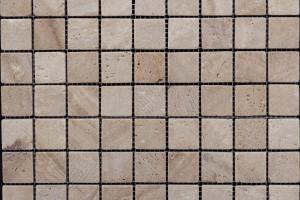 Мозаика из травертина 32*32*7 (300*300) MZ003