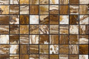Мозаика из травертина 32*32*7 (300*300) MZ011