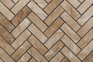 Мозаика из травертина 25*75*7  (300*300) MZ058