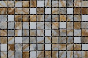 Мозаика из мрамора 23*23*7 (300*300) MZ052