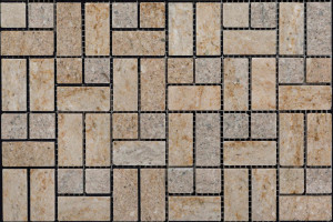 Мозаика из мрамора 23*23*23*48 (300*300) MZ015