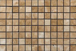 Мозаика из травертина  23*23*7 (300*300) MZ002