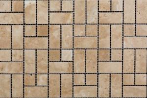 Мозаика из травертина 23*23*23*48*7 (300*300)  MZ021