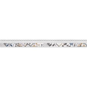Alabama бордюр микс серый 60x600 LBM13