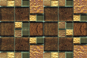 Мозаика шоколадная жатая 327*327*8 JSM-JB058