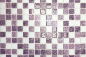 Мозаика бело-сиреневый 327*327*4 MC110
