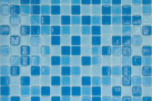 Мозаика голубой микс 327*327*4 MC123